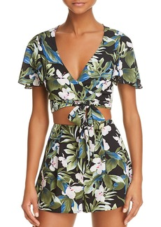 Show Me Your MuMu Wilson Wrapped Crop Top - 100% Exclusive