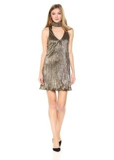 Show Me Your Mumu Women's Friday Choker Dress Good As Gold Pleat XS