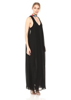 Show Me Your Mumu Women's Krista Maxi Dress Black Chiffon with Beading