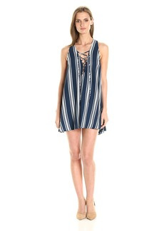 Show Me Your Mumu Women's Rancho Mirage Lace up Tunic Dress  L