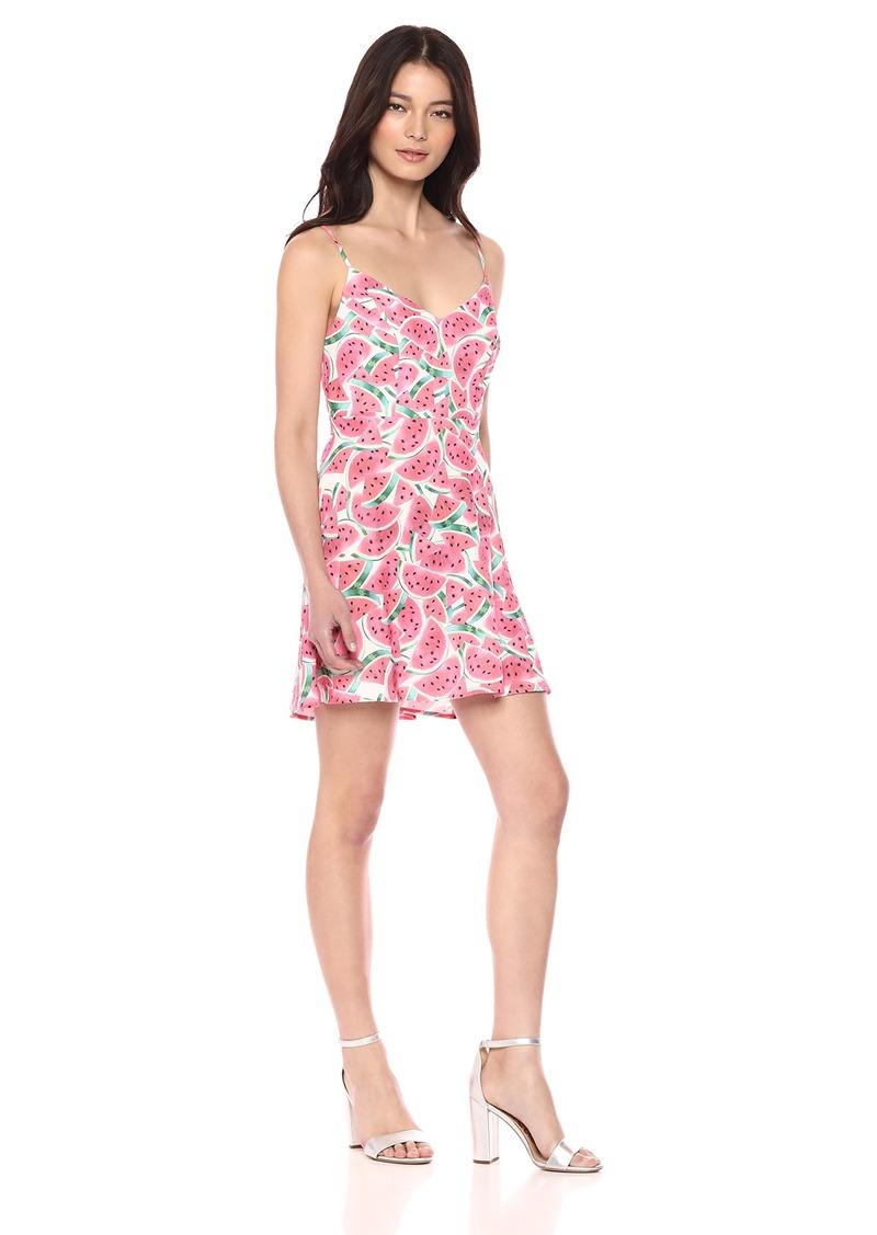 Show Me Your Mumu Women's Regina Dress one in a Melon Crinkle Stretch