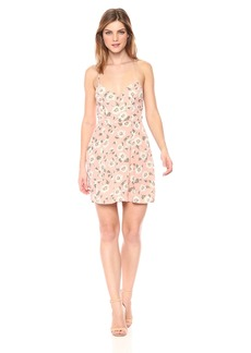 Show Me Your Mumu Women's Victoria Mini Dress with Cross Back and Daisys