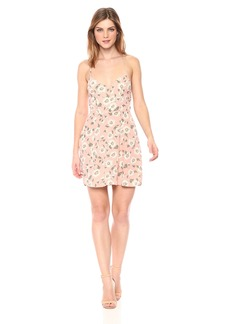 Show Me Your Mumu Women's Victoria Mini Dress with Cross Back and DAISYS Duke Floral Pebble