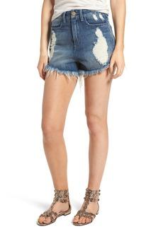 Show Me Your Mumu Wyoming High Waist Cutoff Denim Shorts (Surf)