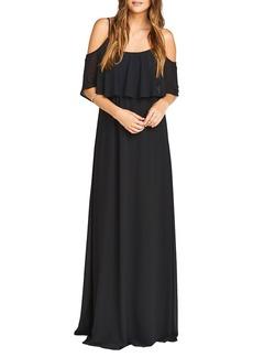 Women's Show Me Your Mumu Caitlin Cold Shoulder Chiffon Gown