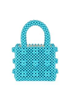 Shrimps Classic Mini Pearly Handbag  Turquoise