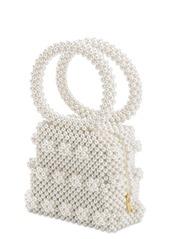 Shrimps Dante Beaded Top Handle Bag