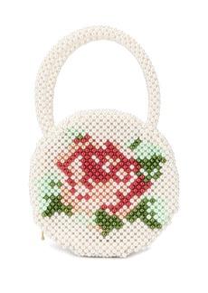 Shrimps Rosa beaded bag