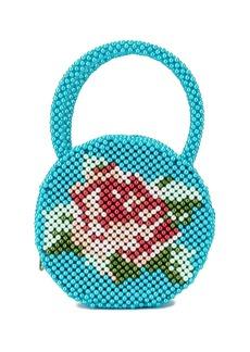 Shrimps Rose pearl-embellished clutch bag