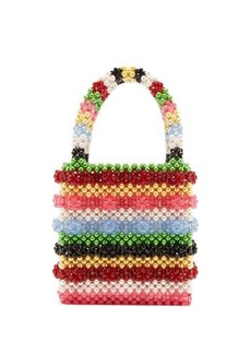 Shrimps Antonia bead and faux-pearl embellished bag