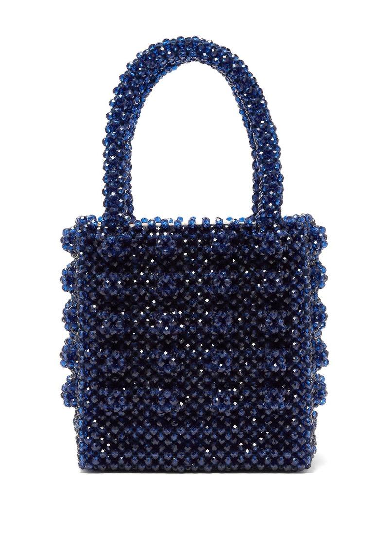 Shrimps Antonia sapphire-crystal embellished bag