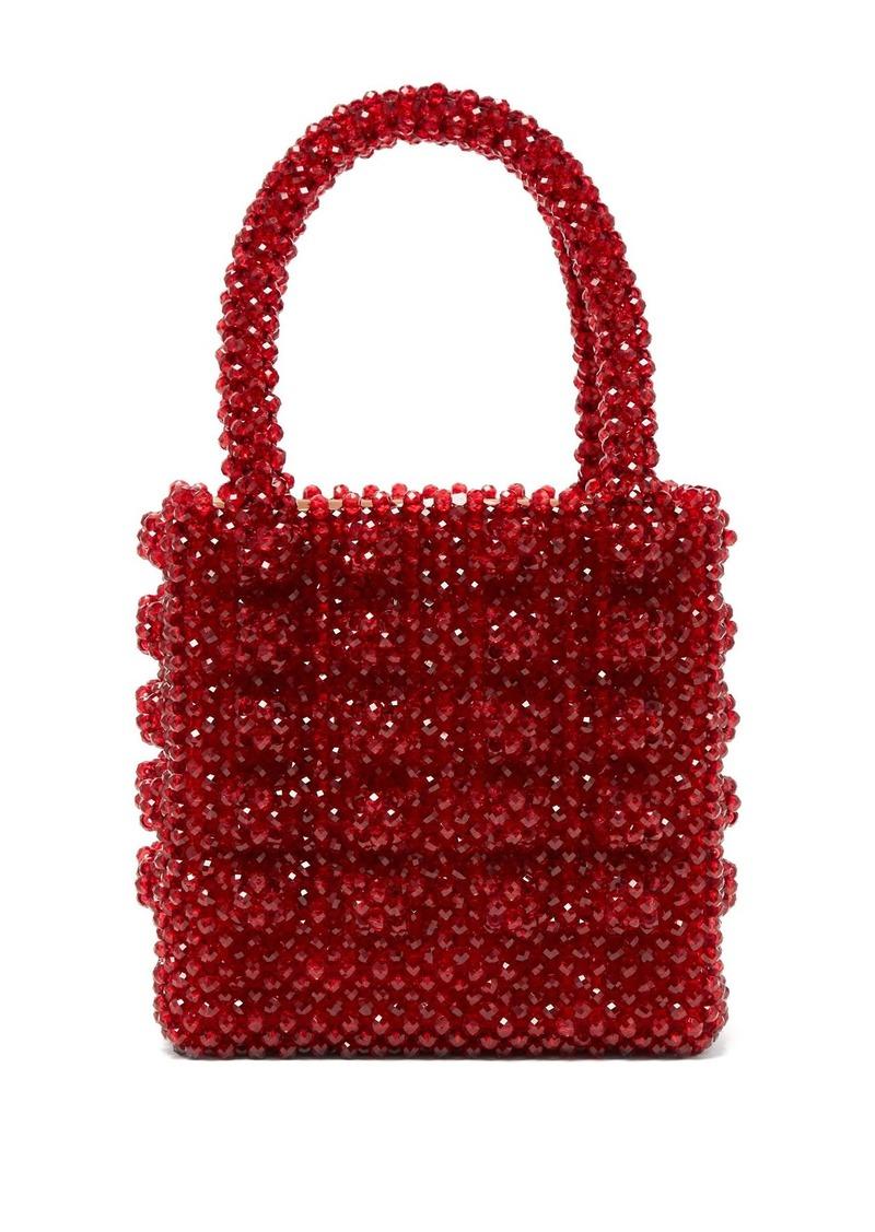 Shrimps Antonia ruby-crystal embellished bag