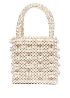 Shrimps Antonia faux-pearl embellished bag