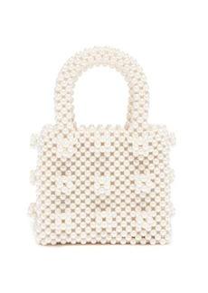 Shrimps Antonia mini faux-pearl embellished bag