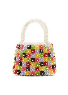 Shrimps Avery bead and faux pearl-embellished bag