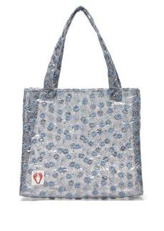 Shrimps Bay embroidered PVC tote bag