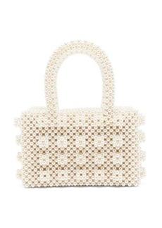 Shrimps Bell faux-pearl embellished bag