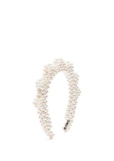 Shrimps Bronco zigzag faux-pearl headband