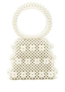 Shrimps Dante faux-pearl embellished bag