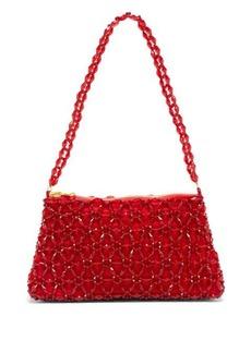 Shrimps Dawson floral-beaded bag