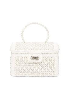 Shrimps Gaia faux-pearl treasure-chest handbag