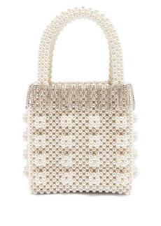 Shrimps Huckleberry faux-pearl and crystal-embellished bag