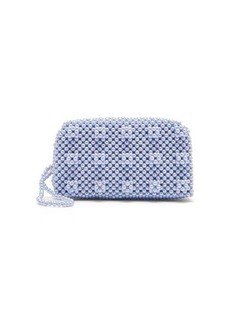 Shrimps Molly faux pearl-embellished clutch bag