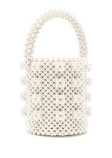 Shrimps Poppy faux-pearl bag