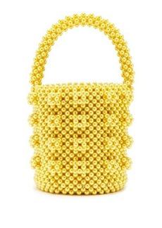 Shrimps Poppy faux-pearl bucket bag