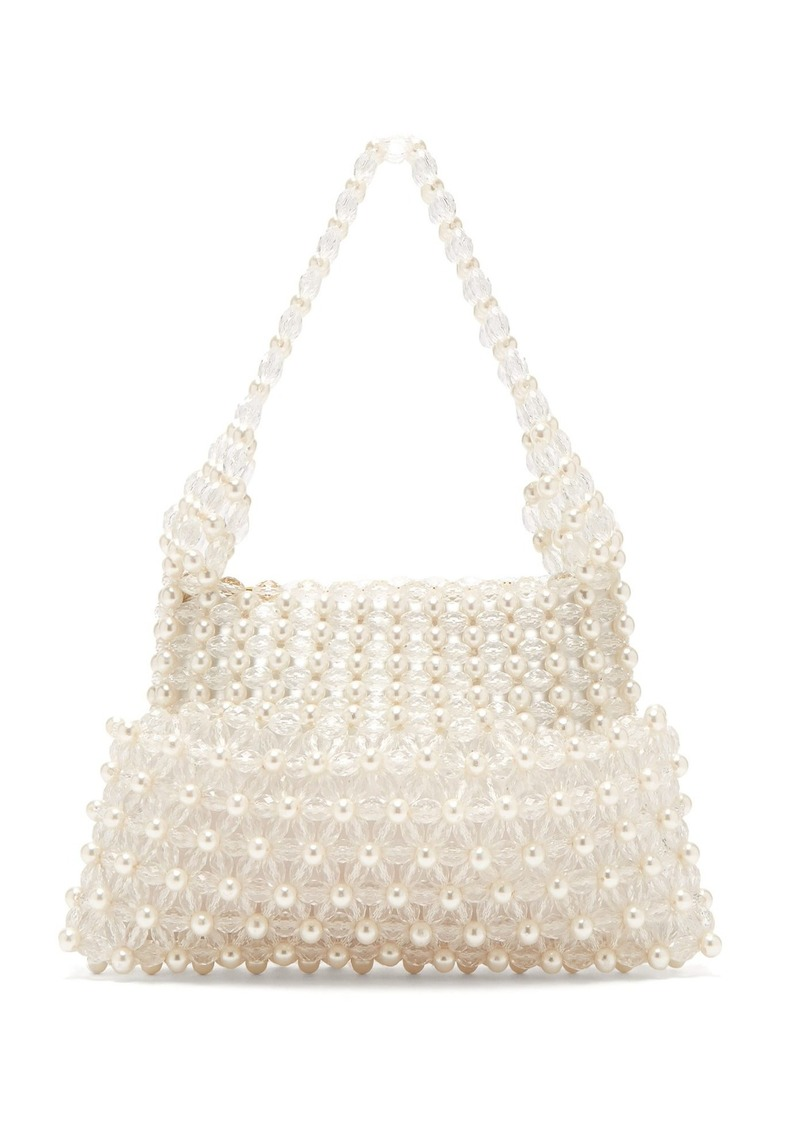 Shrimps Quinn faux-pearl embellished clutch
