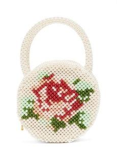 Shrimps Rosa round faux-pearl bag