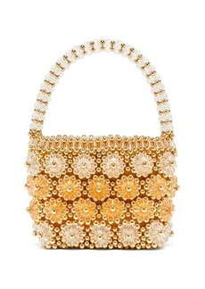 Shrimps Shelly beaded floral handbag