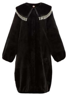 Shrimps Weston crystal-embellished faux-fur coat