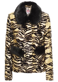 Shrimps Woman Duke Tiger-print Faux Fur Jacket Animal Print