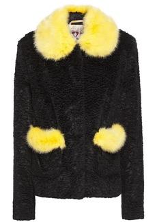 Shrimps Woman Duke Two-tone Faux Fur Jacket Black
