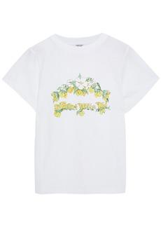 Shrimps Woman Livia Printed Cotton-jersey T-shirt White