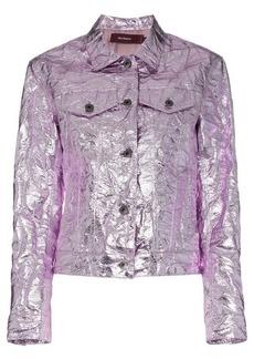 Sies Marjan Alby laminated crinkle jacket