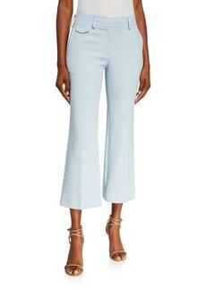 Sies Marjan Crepe Flared Crop Trousers