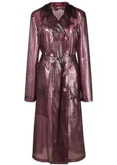 Sies Marjan crocodile effect double breasted coat
