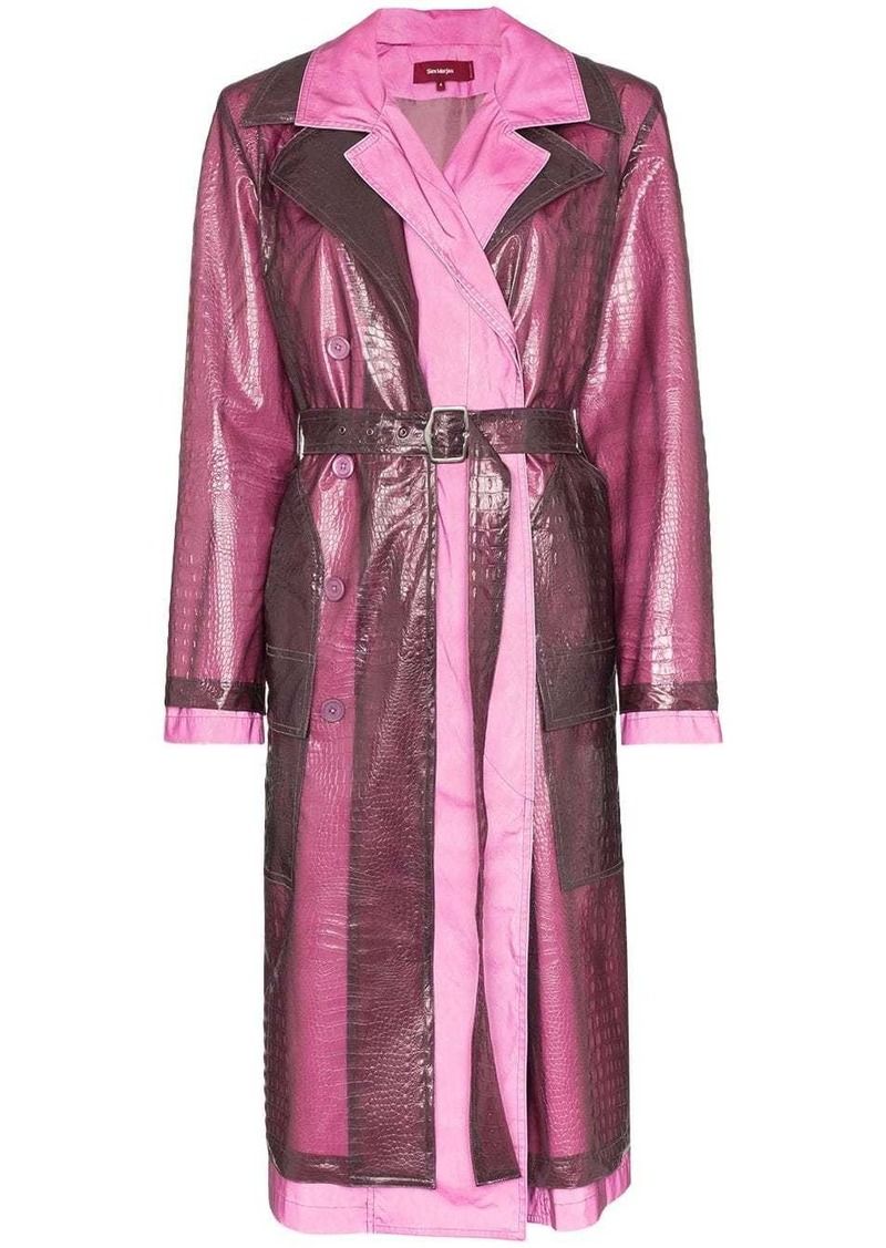 Sies Marjan double layered croc-effect trench