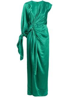 Sies Marjan draped crinkle-satin dress