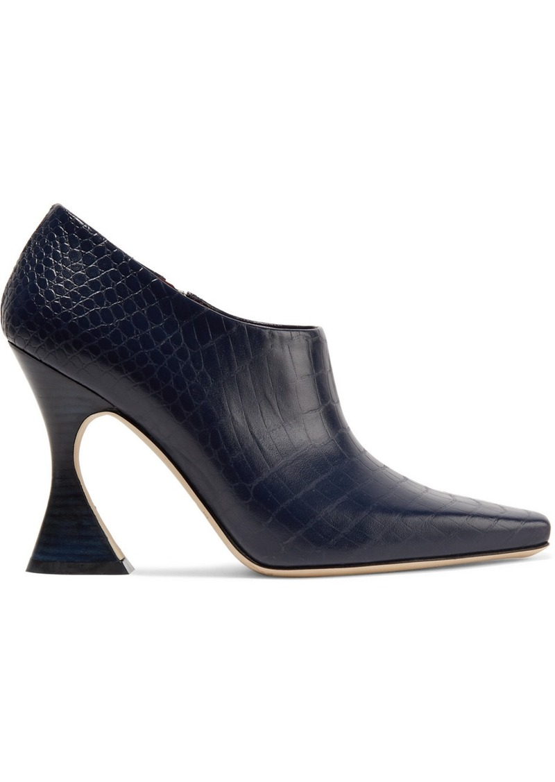 Sies Marjan Drea Croc-effect Leather Pumps