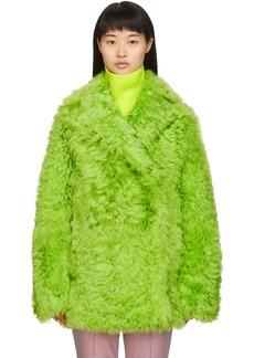 Sies Marjan Green Shearling Pippa Tigrado Peacoat