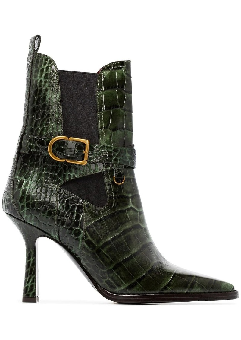 Sies Marjan Naomy 90mm crocodile-effect boots