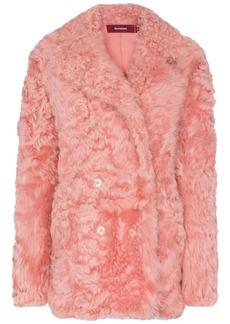 Sies Marjan Pippa shearling pea coat