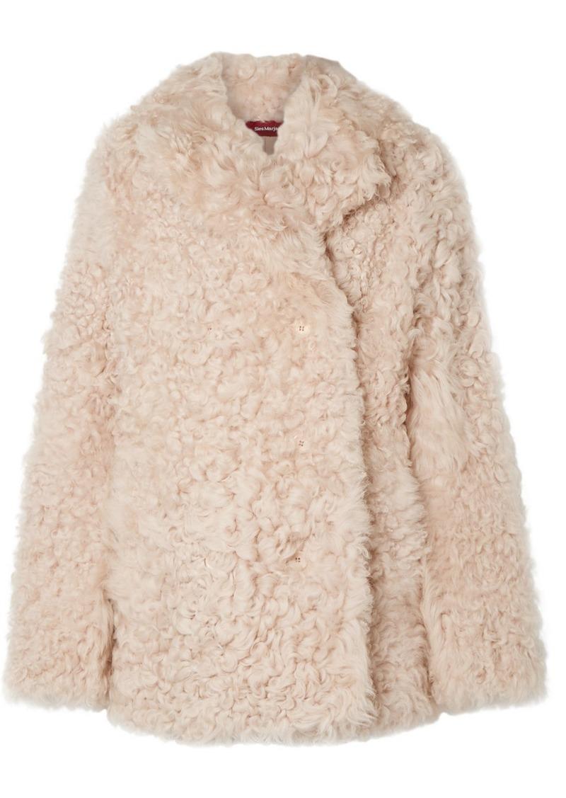 Sies Marjan Pippa Tigrado Oversized Shearling Coat