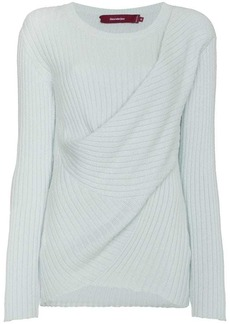 Sies Marjan Ribbed Jumper with Draped Detailing