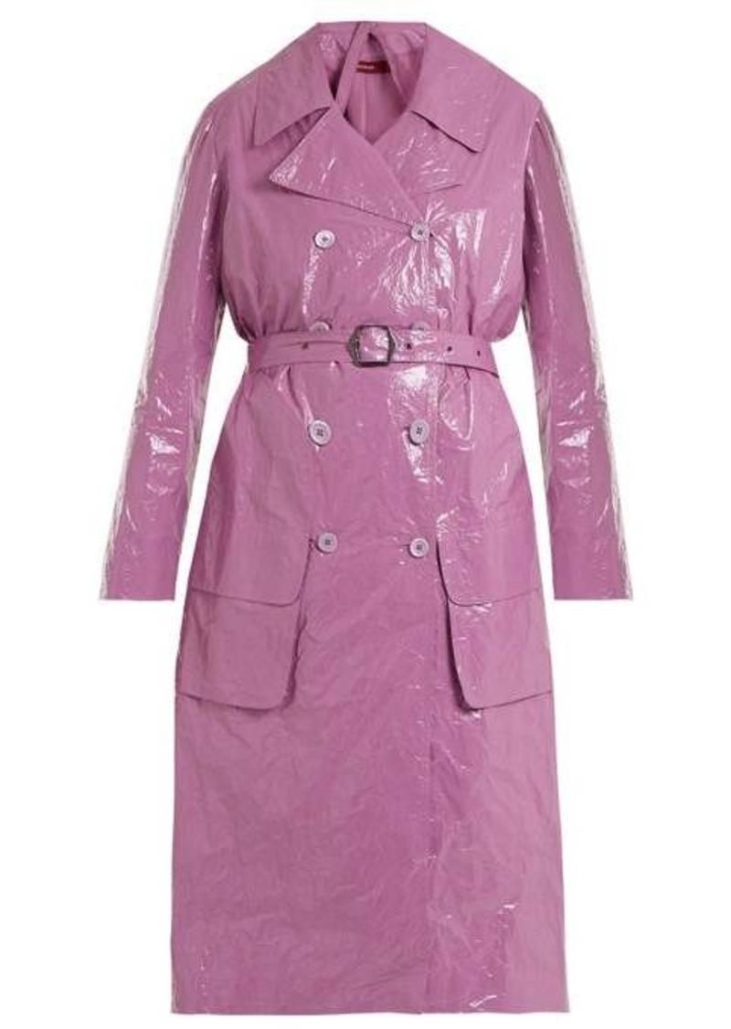 Sies Marjan Bessie crinkled-vinyl trench coat