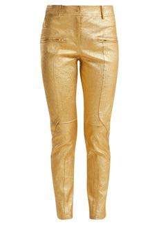 Sies Marjan Brin metallic-leather biker trousers