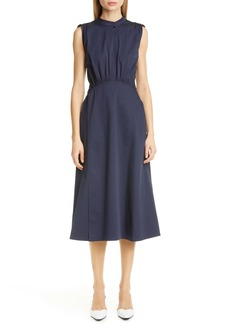 Sies Marjan Cotton Poplin A-Line Midi Dress